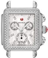Michele Deco Diamond Diamond Dial Watch Head, 33mm x 35mm