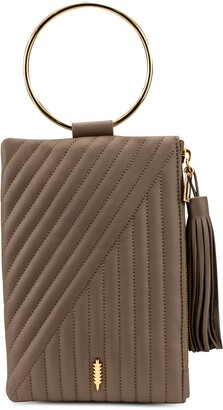 THACKER Nolita Ring Handle Quilted Leather Clutch