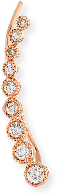 Ef Collection 14K Gold & Diamond Bezel Climber Earring - Right