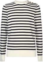 Burberry Crew Neck Sweater, White, S