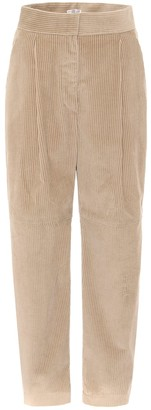 Brunello Cucinelli High-rise tapered corduroy pants