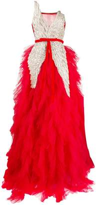 Loulou embellished wings ball gown