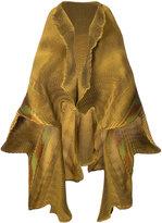 Issey Miyake frilled shawl jacket