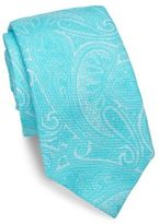 Isaia Paisley print Tie
