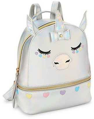 Under One Sky Girl's Unicorn Faux Leather Backpack