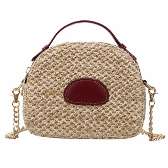 Verus Summer Woven Straw Shoulder Bag
