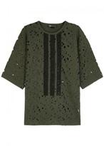 Y-3 Distressed Wool Blend T-shirt