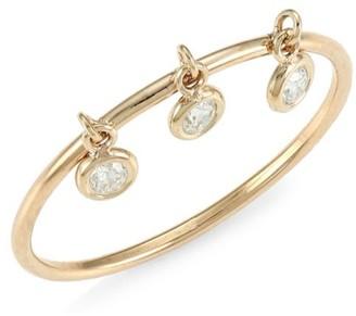 Zoë Chicco 14K Yellow Gold Floating Diamond Trio Ring