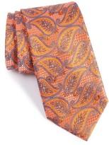 Nordstrom Men's Palm Paisley Silk Tie