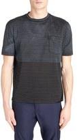 Lanvin Distressed Colorblock Stripe T-Shirt