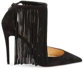 Christian Louboutin Curtain Fringe Ankle-Strap Pumps