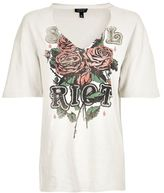Topshop Riot choker rock t-shirt