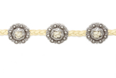 Frasier Sterling Concho Choker in Cream