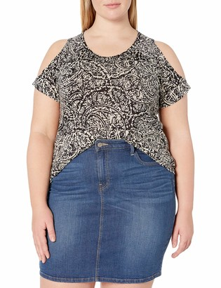 Lucky Brand Women's Size Plus PASILEY Printed TEE