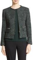 Helene Berman Women's Animal Jacquard Jacket