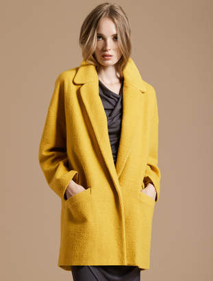Halston Long Sleeve Oversized Coat