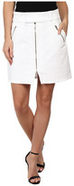 7 For All Mankind A-Line Skirt w/ Exposed Zips in White Fashion