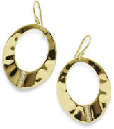 Ippolita 18K Senso Open Wavy Disc Earrings with Diamonds