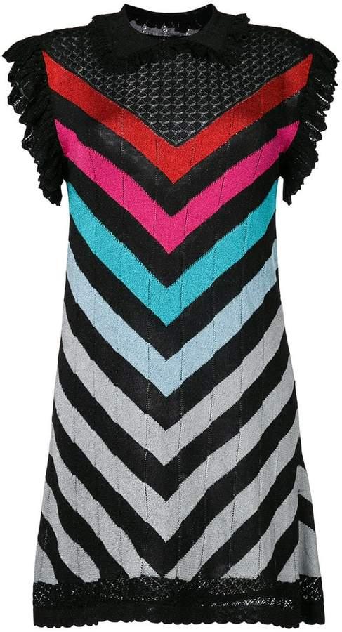 Marco De Vincenzo striped lurex dress