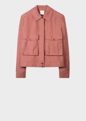 Paul Smith Women's Brick Red Linen Jacket
