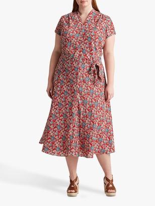 Ralph Lauren Ralph Curve Amit Floral Print Dress, Red/Multi
