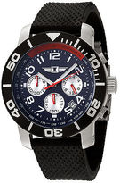 I by Invicta 41701-003 Men's Chronograph Black Silicone Blue Dial