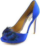 Badgley Mischka Piper Bleu Femmes Pom