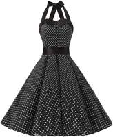 Dressystar Vintage Polka Dot Retro Cocktail Prom Dresses 50's 60's Rockabilly Bandage m