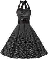 Dressystar Vintage Polka Dot Retro Cocktail Prom Dresses 50's 62's Rockabilly Bandage M