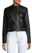 Vero Moda Cropped Faux-Leather Jacket