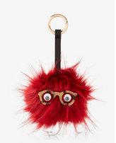 Express ok originals faux fur glasses pom keychain and bag charm