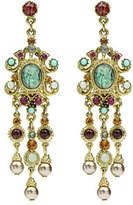Ben-Amun Multicolor Triple Pearly Drop Earrings