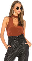 Amanda Uprichard Benson Top in Rust. - size L (also in M,S,XS)