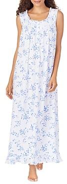 Eileen West Floral Print Pointelle Ballet Nightgown