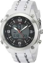 U.S. Polo Assn. Sport Men's US9147 White Rubber Strap Analog-Digital Watch