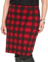Chaps Plus Size Buffalo Check Pencil Skirt