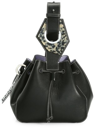 Ganni Small Leather Bucket Bag