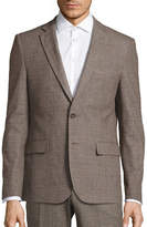 Haight And Ashbury Northwood Modern-Fit Brushed Plaid Suit Jacket