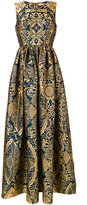 Mary Katrantzou Shaw sleeveless jacquard dress