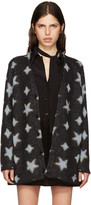 Saint Laurent Black Oversized Star Cardigan