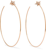 Diane Kordas Explosion 18-karat Rose Gold Diamond Earrings - one size