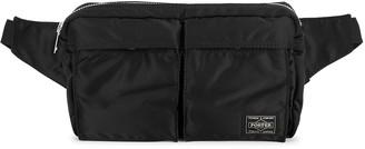 Porter Black padded nylon belt bag