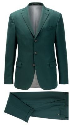 Slim-fit suit with three-button jacket