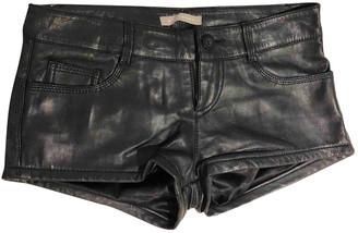 Stefanel Black Leather Shorts