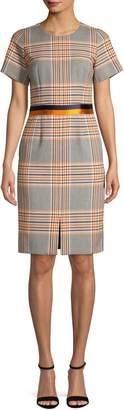 HUGO Plaid Knee-Length Dress