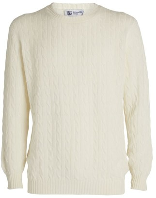 Johnstons of Elgin Cashmere Cable-Knit Sweater