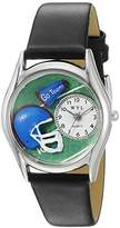 Whimsical Watches Women's S0820009 Football Black Leather Watch