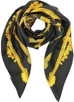 Versace Tigris Print Silk Square Scarf