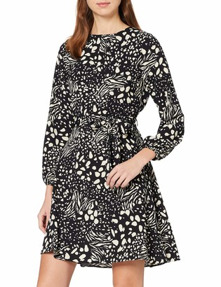 Dorothy Perkins Women's Nova Print Pleat Fit and Flare Dress