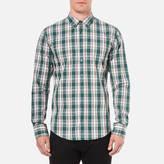 BOSS ORANGE Men's Edipoe Check Shirt Green